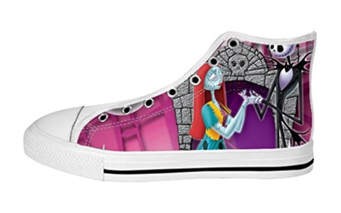 Men's High Top Full Canvas Upper Shoes Soft Inner Jack and Sally Design