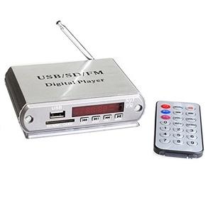 Ake 12V Mini Bluetooth Digital Display Player FM Radio Card Reader MP3 Decoder with Remote Control for USB SD Car