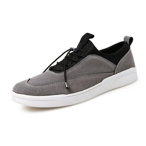 Leader Show Men's Low-Top Fashion Sneaker Casual Suede Skate Shoe (6.5, Gray)