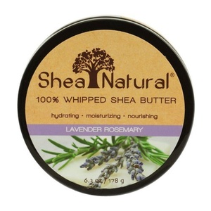 Shea Natural Whipped Shea Butter, Lavender Rosemary, 6.3 Ounce by Shea Natural