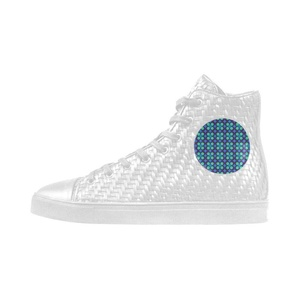 Shoes No.1 Sneakers Fitness Woven Women's Shoes PU Leather Vintage Geometric Circles For Outdoor