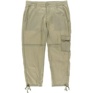 DKNY Jeans Womens Cargo Flat Front Capri Pants Beige 12