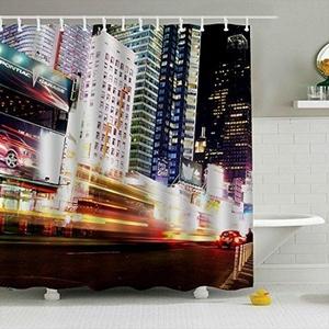 Manhattan New York City Shower Curtain Mildew resistant Waterproof Polyester Fabric 150x180cm