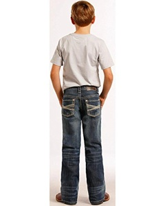 Rock & Roll Cowboy Boys' And Khaki Crossing Jeans Regular Fit - Bb-8552