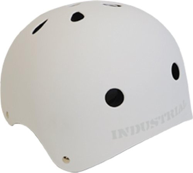 Industrial Flat White Skateboard Helmet - X-Large / 23 - 24 by Industrial