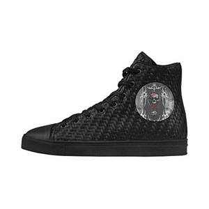 Shoes No.1 Sneakers Fitness Woven Women's Shoes PU Leather Awesome Skull On Metal Design For Outdoor
