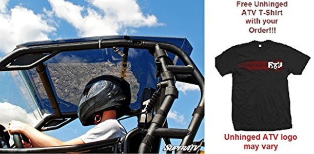 Bundle 2 items: Super ATV Can-Am Commander Tinted Roof and FREE Unhinged ATV T-shirt (3X)