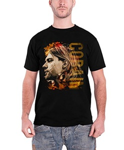 Kurt Cobain T Shirt Coloured Side View Nirvana Official Mens Black