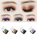 HUBEE 4 Colors Fashion Glitter Eyeshadow Palette Natural Cosmetics Makeup Shining Eye Shadow With Brush