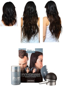 Suddenly Hair Complete Knockout Hair System - XFusion Keratin Hair Fibers & 100% Remy Virgin Brazilian 20