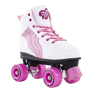 Rio Roller Pure White/Pink Quad Roller Skates - UK 2 by Rio Roller
