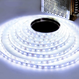 Bluecookies LED Light Strip 16.4ft/5m SMD 5050 300 LEDs Waterproof Flexible strip lighting 12V DC Power Supply for Gardens/Homes/Kitchen/Cars/Bar/Party DIY Decoration