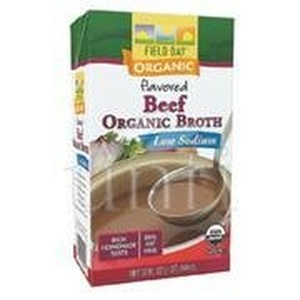 Broth 95 percent organic Beef Low Sodium 32 Oz - Pack of 12 - SPu1150911 by Field Day