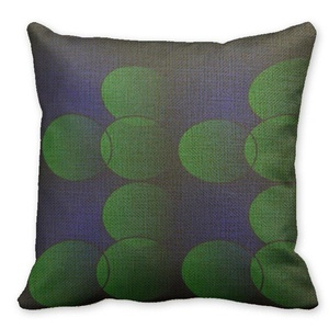 Mooninght Green And Blue Graphics Square Cushion Cover