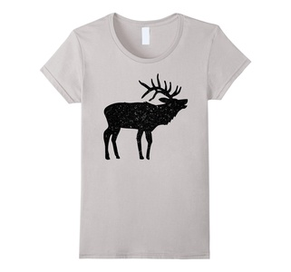 Women's Elk Shirt Elk Hunting Shirts / Hunter Silhouette COOL Medium Silver