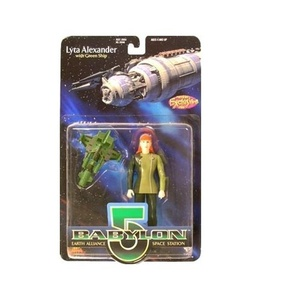 BABYLON 5 LYTA ALEXANDER(BLACK GLOVES) AND GREEN SHIP by Exclusive