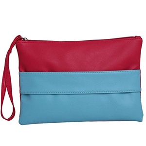 teachay Fashionable Women Stripe Key Coin Purse Pencil Case Envelope Bag Handbag A