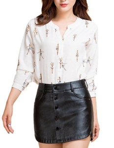 Women's Sexy Black Button Down Bodycon High Waisted Faux Leather Hot Mini Skirts