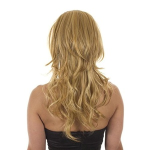 Hair By MissTresses Bodywave Half Wig Extensions Hairpiece with backcombed crown for added volume, Fawcett Golden Blonde by Hair By MissTresses
