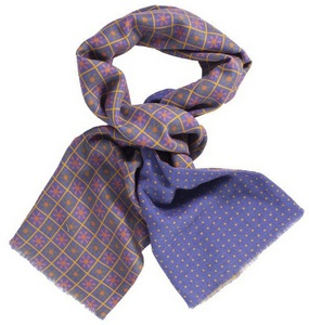 Jeans Blue Propeller Scarf by 40 Colori