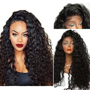 Mic Hair Synthetic Lace Front Wigs For Black Women Long Curly Fiber Hair Heat Resistant Front Lace Wigs With Baby Hair