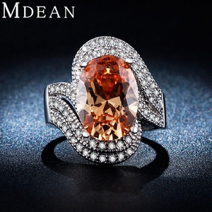 Slyq Jewelry White Gold Plated Ring jewelry Amber gem CZ jewelry Engagement wedding women Ring MSR240