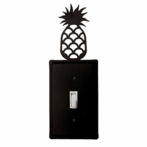 ES-44 Pineapple Single Switch Electric Cover by Village Wrought Iron