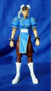 Street Fighter Round 1 Chun Li 6 Action Figure - Light Blue Shirt Variant by Street Fighter