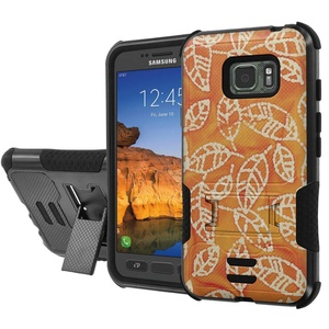 [AT&T] Galaxy [Active S7] Armor Case [NakedShield] [Black/Black] Urban Shockproof Defender [Kick Stand] - [Gold Leaf] for Samsung Galaxy [S7 Active]