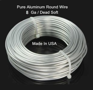 Modern Findings 8 Ga Aluminum Round Wire 25 Ft (dead Soft)