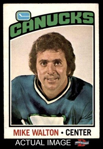 1976 O-Pee-Chee NHL # 23 Mike Walton Vancouver Canucks (Hockey Card) Dean's Cards 5 - EX