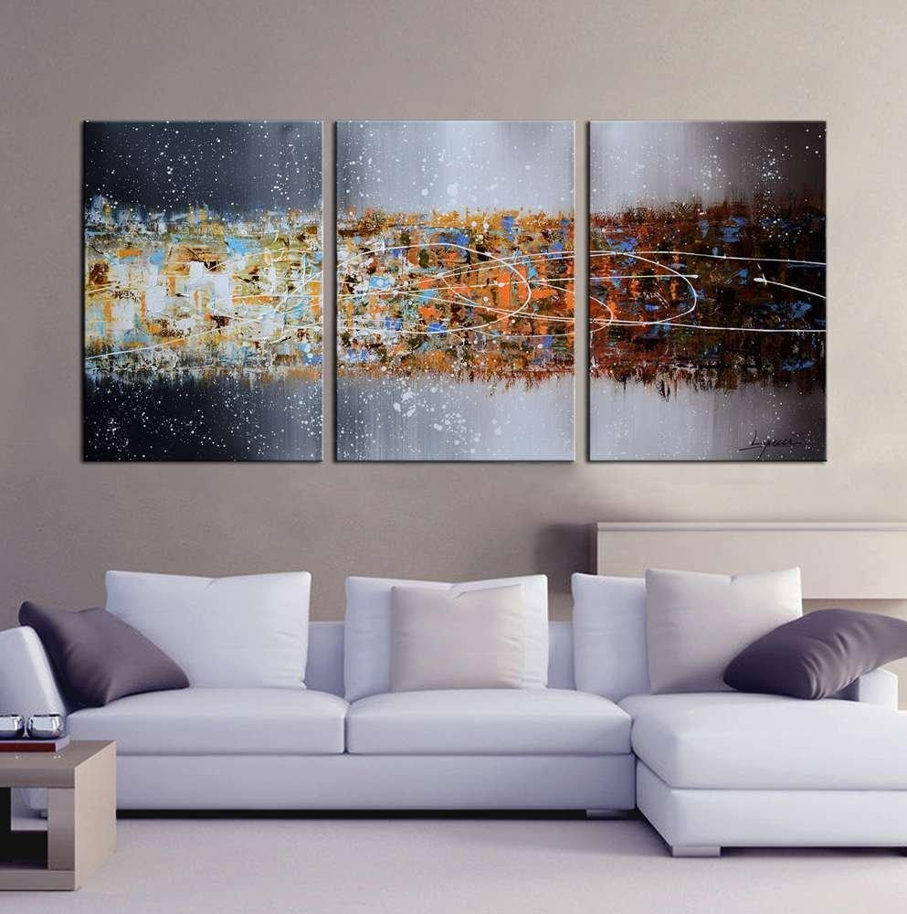 Hand Painted Oil On Gallery Wrapped Canvas Art Set Of