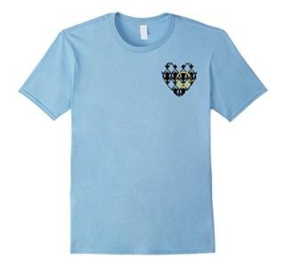 Men's love smile t-shirt Medium Baby Blue