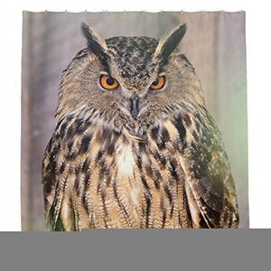 fiercely Owl Shower Curtain Polyester Fabric Bathroom Shower Curtain Set with Hooks 72 By 72-inch,180cmx180cm