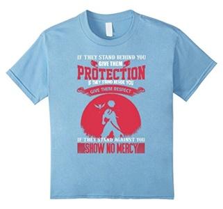 Kids Show No Mercy T-Shirt 4 Baby Blue