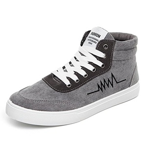 Autumn high help shoes/Breathable casual shoes/Wild men shoes-B Foot length=24.8CM(9.8Inch)
