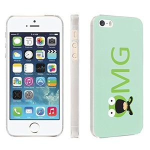 iPhone [SE/5/5S] Phone Case [Skinguardz] [Clear] Fancy Protection [Clear Form Fit] - [omg] for iPhone [SE/5/5S]
