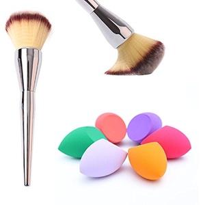Coosa 7pcs Set Cosmetic Brushes Kits Pro Wooden Handle Makeup Brushes + Makeup sponge blender