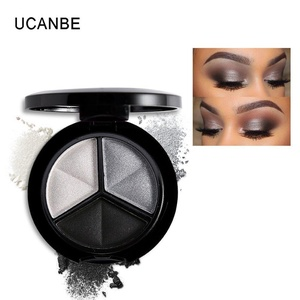UCANBE Makeup Naked Eyehsadow Palette 3 Colors Smoky Cosmetic Set Professional Natural Matte Eye Shadow Palette Make Up Glitter (Color 5)