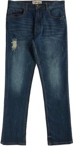 Blue Sol Mens Distressed Jeans 36W x 34L Indigo