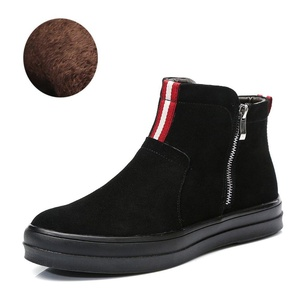 Leather ankle boots/Korean leisure shoes/Pedal the lazy man shoes-A Foot length=24.8CM(9.8Inch)