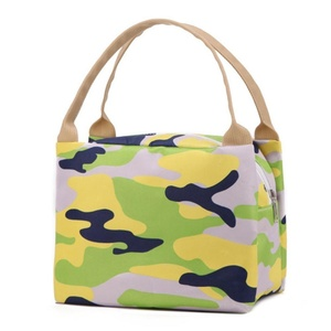Portable Perman Travel Picnic Lunch Box Carry Tote Food Storage Bag Bento Zipper Lunch Pouch Printing (A)