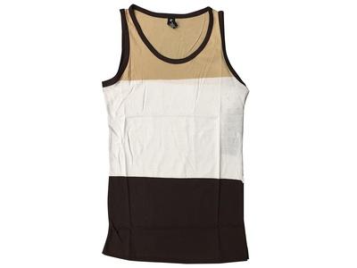 Men's SE Black Khaki Tri-Colored Tank Top (L)