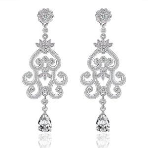 Crown Dangle Earrings for Women Prom Wedding Party, Top Grade Swiss cz Earrings For Girl M&M Jewelry