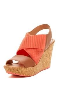 Kenneth Cole Reaction Sole Less Women's Platform Wedge Sandals, Black, Size 9.0
