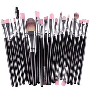 DEESEE(TM) Makeup Brush 20pcs/set Makeup Brush Set tools Make-up Toiletry Kit Wool Make Up Brush Set (Black)