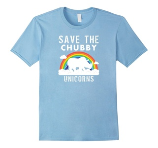 Men's Save The Chubby Unicorns T-Shirt - Sarcastic Funny Gift Large Baby Blue