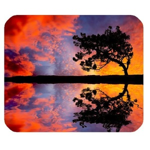 DreamOffice-Custom Beach and Sunset Mouse pad Gaming Mouse Mat Cloth Cover Support Wired Wireless or Bluetooth Mouse,9.84
