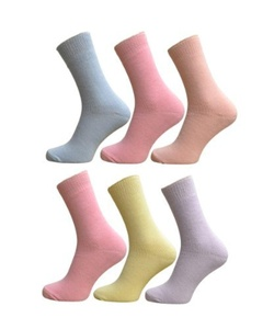 6 Pair Womens Thermal Socks Pastel Cols Size 4-6 by Thermal Socks