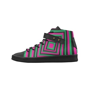 Shoes No.1 Women's Sneakers Lyra Round Toe High-top Shoes Streifen Bunte Panttern For Outdoor